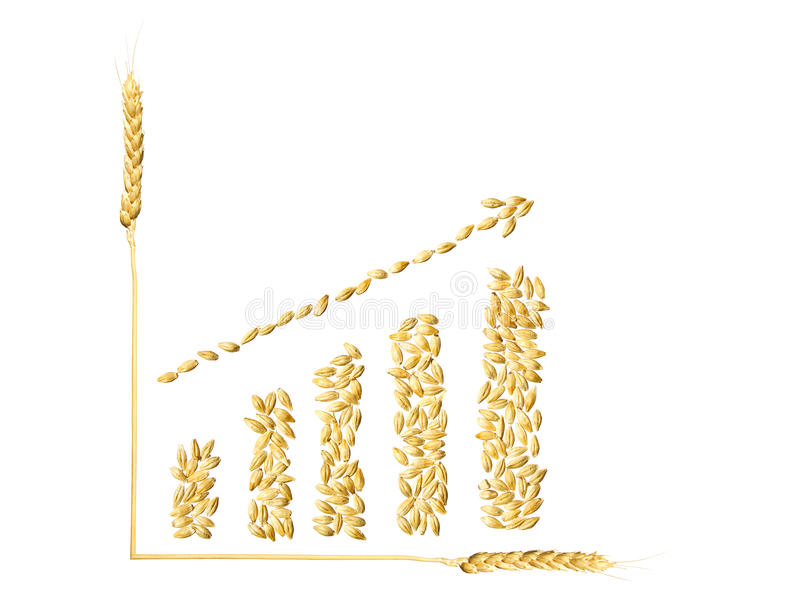 Increase a crop of wheat stock illustration