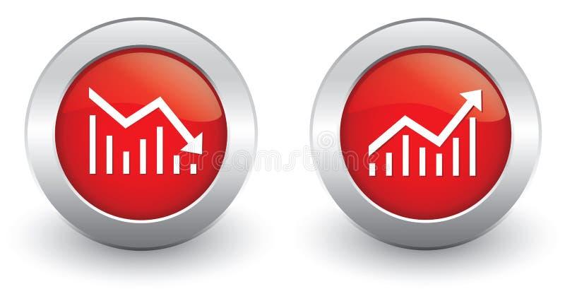 Increase Decrease Icons Royalty Free Stock Photo