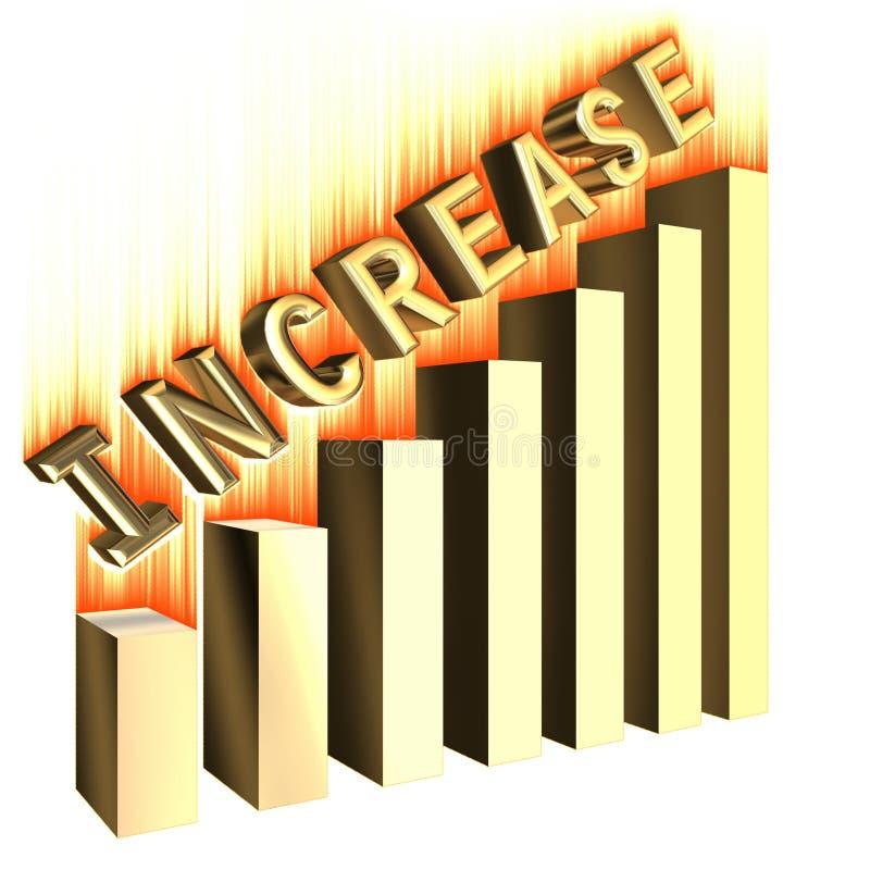 increase för stånggraf vektor illustrationer