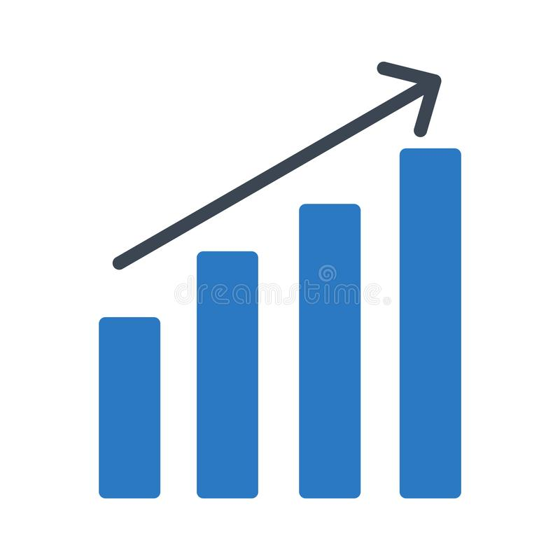 Increase glyph color flat vector icon vector illustration