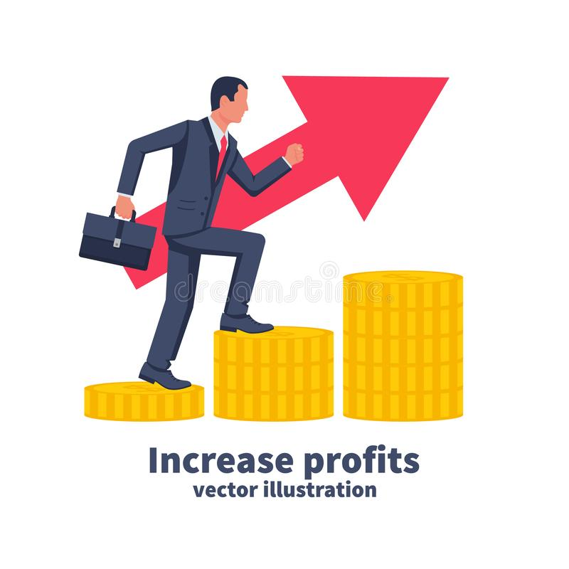 Increase profits concept. vector illustration