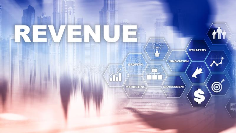Increase revenue concept. Planing growth and increase of positive indicators in his business. Mixed media. Planning stock images
