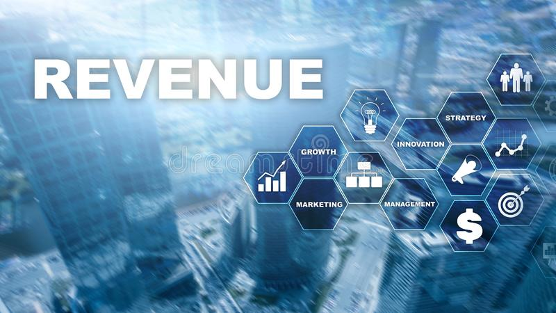 Increase revenue concept. Planing growth and increase of positive indicators in his business. Mixed media. Planning revenue growt. H stock photography