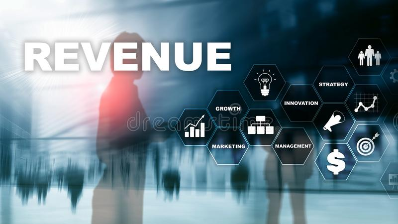 Increase revenue concept. Planing growth and increase of positive indicators in his business. Mixed media. Planning stock photography