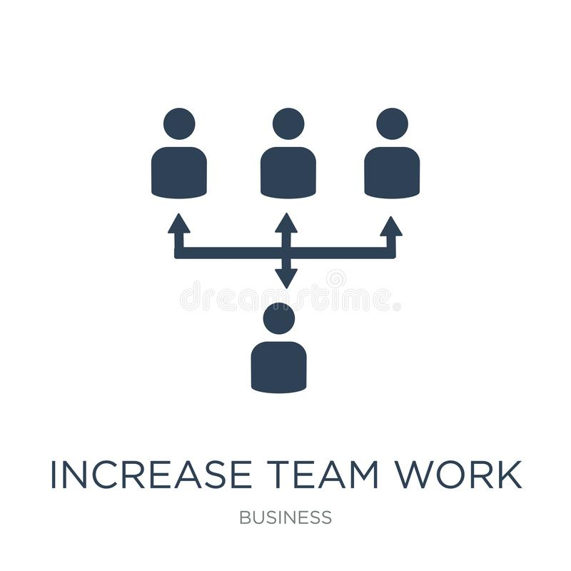 increase team work icon in trendy design style. increase team work icon isolated on white background. increase team work vector vector illustration