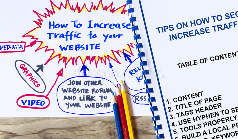 Increase traffic to your website concept. royalty free stock images