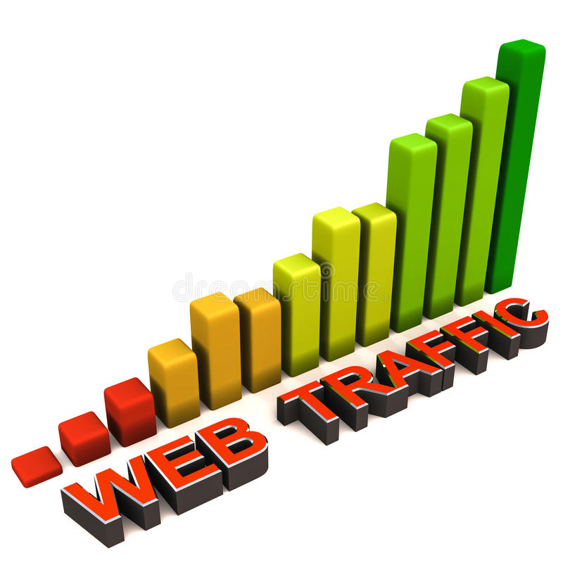 Download Increase web traffic stock illustration. Image of customers - 26791124