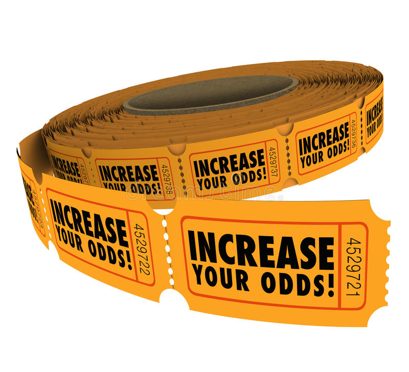 Free Increase Your Odds Raffle Tickets Roll Improve Chances Winning Stock Photo - 41634360
