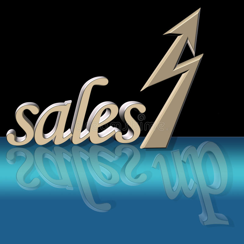 Increased sales royalty free illustration