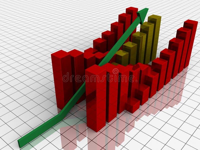 Download Increasing bar graph stock illustration. Illustration of point - 24836726