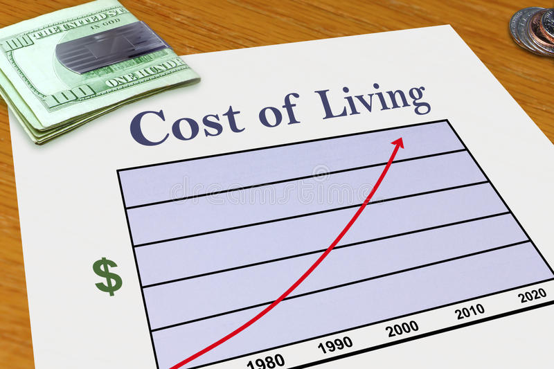 Increasing Cost of Living royalty free stock images