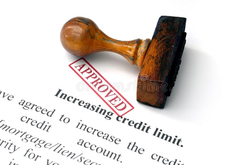 Increasing credit limit stock photography