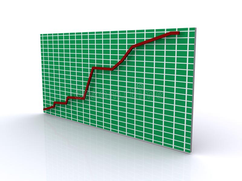 Download Increasing graph stock illustration. Image of business - 22541453