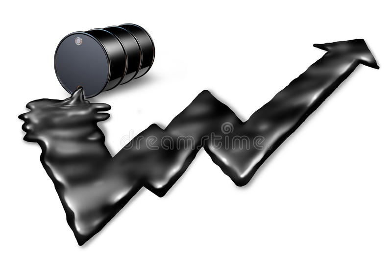 Increasing Price Of Oil royalty free illustration