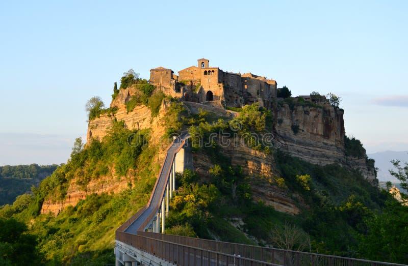 Incredible Civita di Bagnoregio, Italien stockfotografie