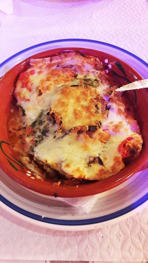 An incredible dish of vegetal lasagna stock photography