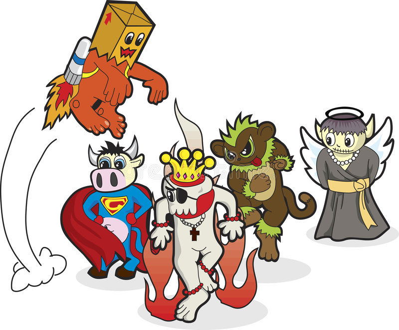 Incredible Heroes royalty free illustration