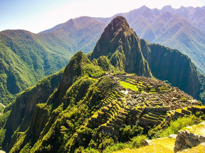 Incredible Machu Picchu stock image