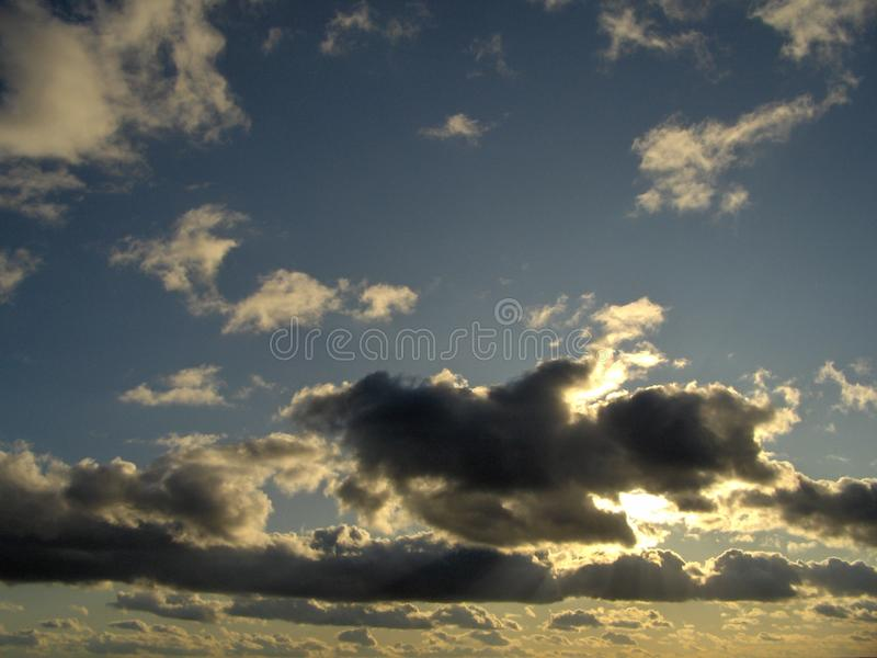 Incredible overcast sky. royalty free stock image