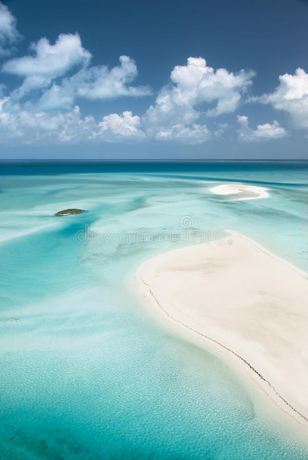 Incredible Sandbar Islands stock image