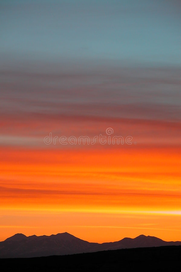 Incredible Sunrise Color Spectrums stock image