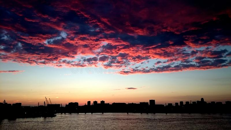 Incredible sunset royalty free stock images