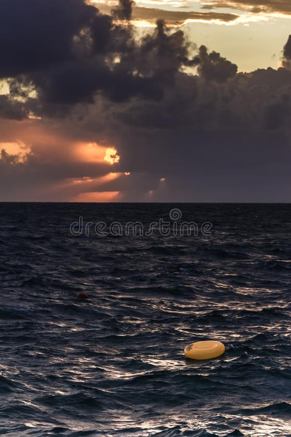 Incredible sunsets on the black sea. Clouds over sea. A splash of water. Waves. Sunset at sea. The road through horizon. pier in sea stock photos