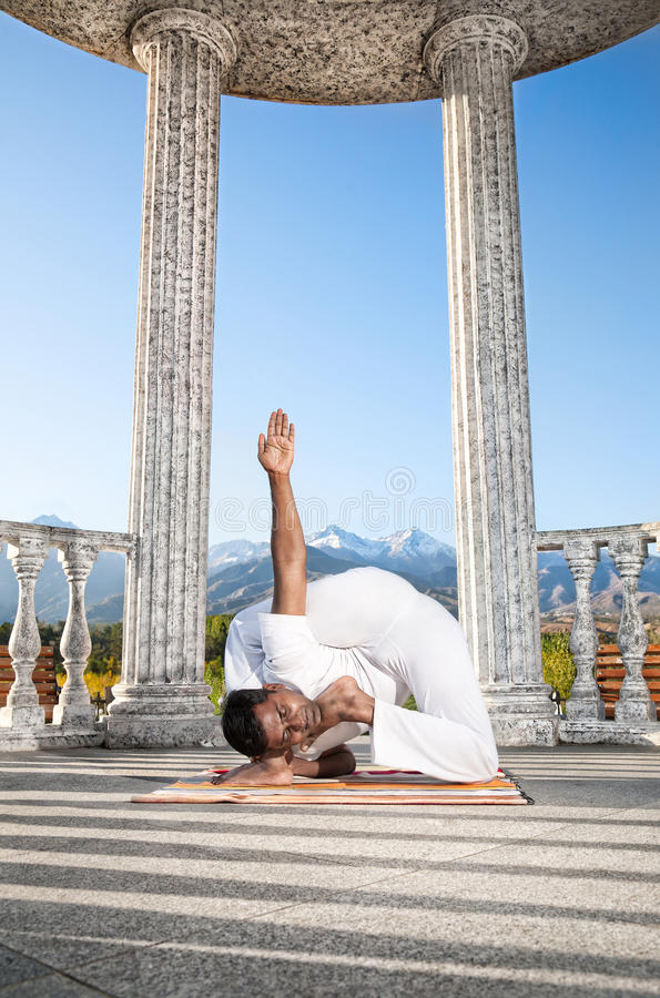 Download Incredible Yoga Advance Pose Stock Image - Image of difficult, flexible: 21478541