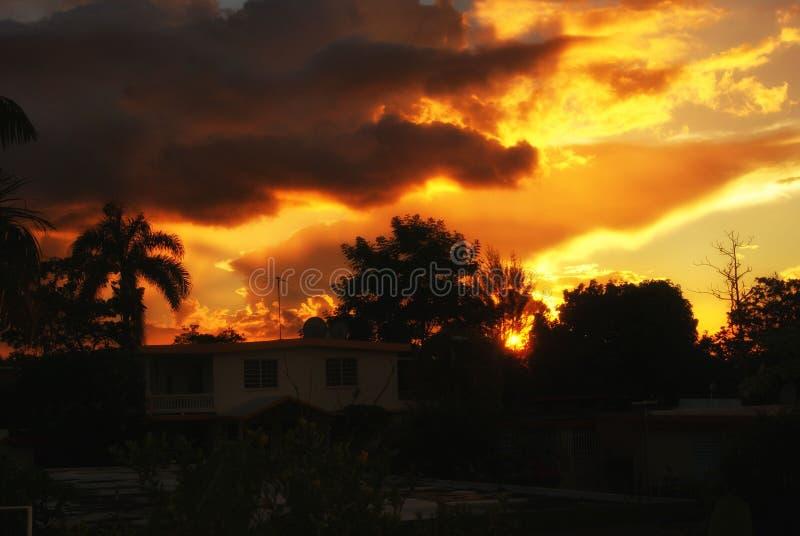 incredibles zonsondergang royalty-vrije stock afbeeldingen