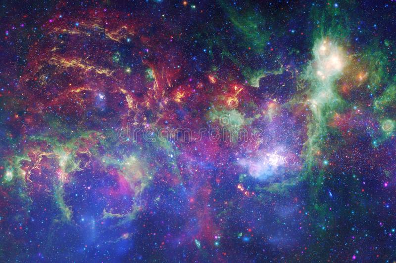 Incredibly beautiful galaxy many light years far from the Earth stock illustration