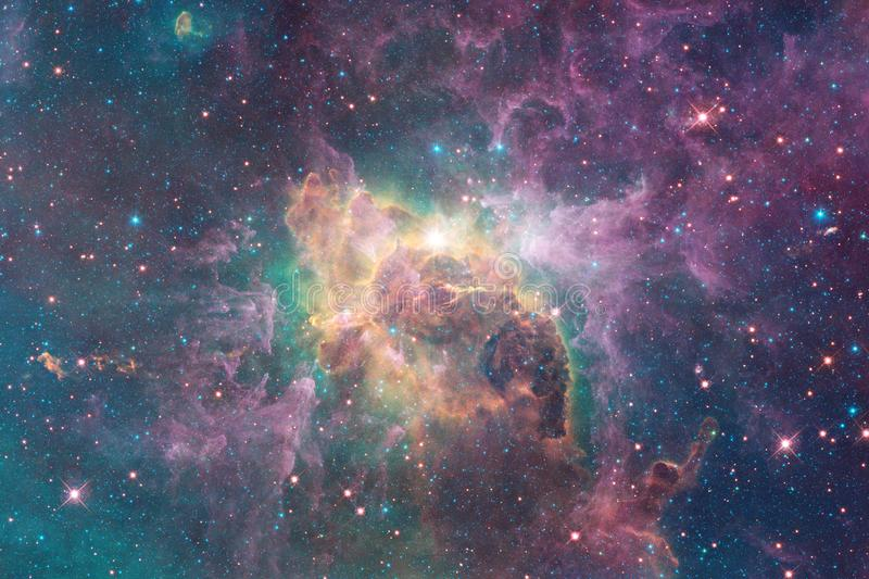 Incredibly beautiful galaxy somewhere in deep space. Science fiction wallpaper stock image