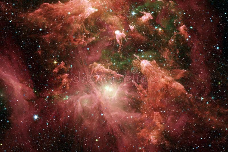 Incredibly beautiful galaxy somewhere in deep space. Science fiction wallpaper stock photo