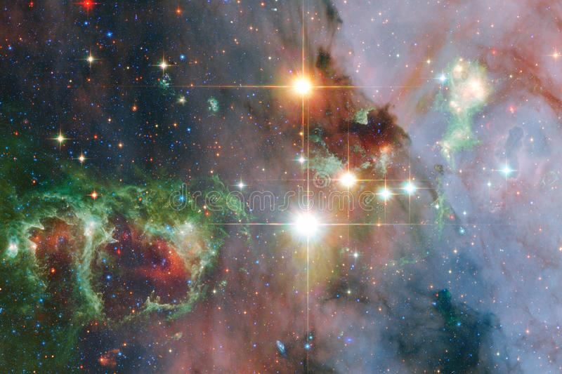Incredibly beautiful galaxy somewhere in deep space. Science fiction wallpaper. Elements of this image furnished by NASA royalty free stock images