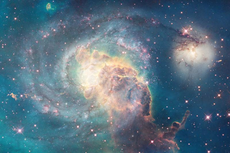 Incredibly beautiful galaxy somewhere in deep space. Science fiction wallpaper stock images