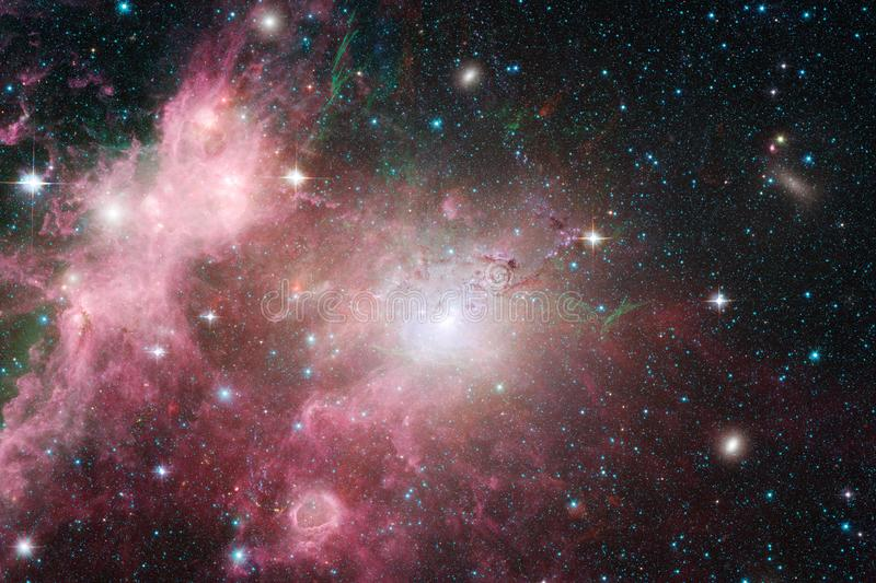 Incredibly beautiful galaxy somewhere in deep space. Science fiction wallpaper. Elements of this image furnished by NASA stock photography