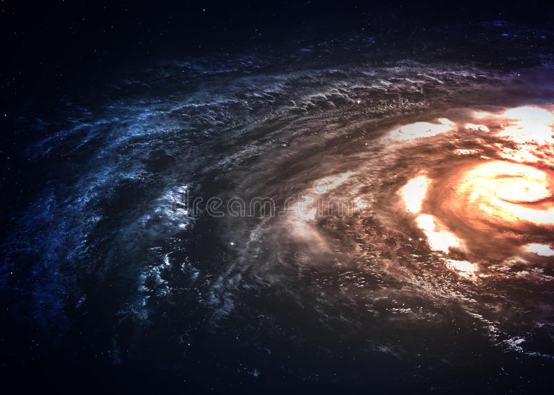 Incredibly beautiful spiral galaxy somewhere in stock photography