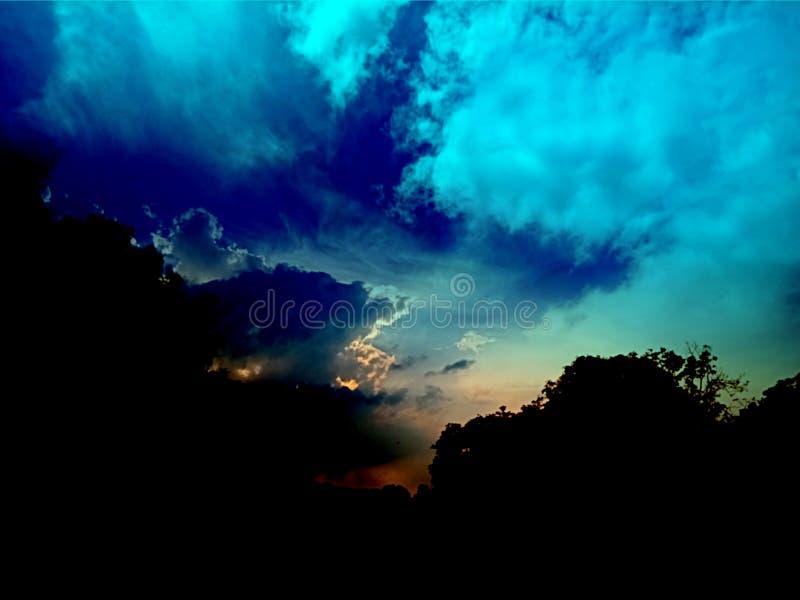 Sunset, sunrise landscape, panorama.Beautiful nature.Blue Sky, amazing colorful clouds.Natural Background.Artistic Wallpaper. Incredibly beautiful sunset.Sun stock photography