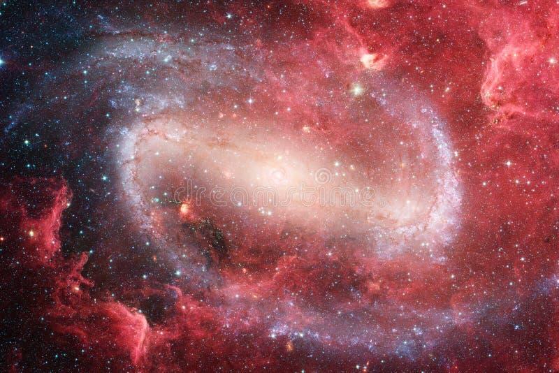 Incredibly härlig galax många ljusår långt från jorden vektor illustrationer