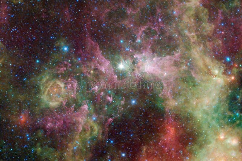 Incredibly härlig galax många ljusår långt från jorden arkivbild