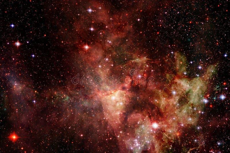 Incredibly härlig galax många ljusår långt från jorden royaltyfri illustrationer