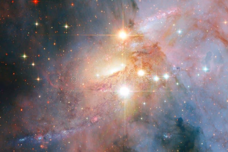 Incredibly härlig galax någonstans i djupt utrymme Sciencetapet royaltyfria bilder