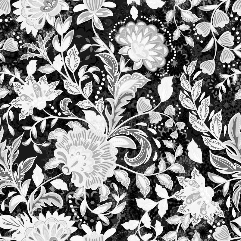Incredibly härlig, saftigt, ljust, blommar vektormodellen med försiktig rosa fantasi Ideal för textiler, tyger royaltyfri illustrationer