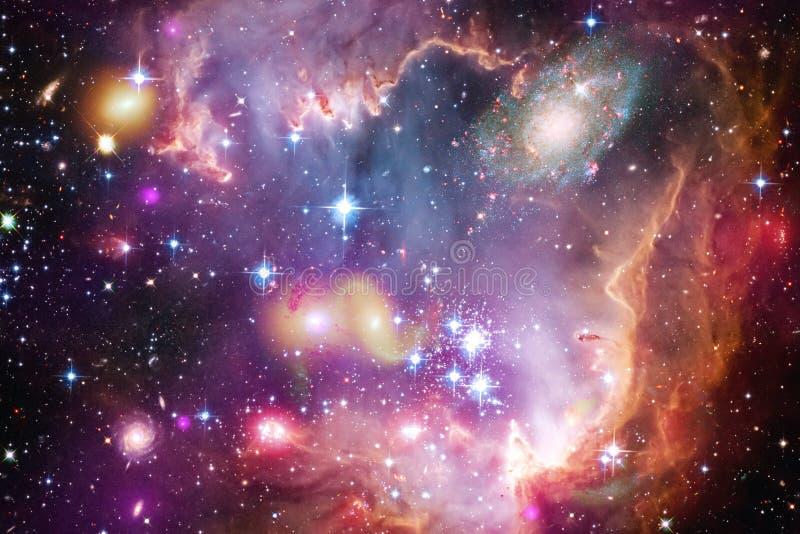Incredibly h?rlig galax n?gonstans i djupt utrymme Sciencetapet vektor illustrationer