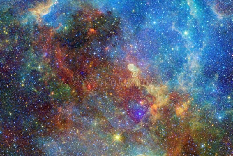 Incredibly h?rlig galax n?gonstans i djupt utrymme Sciencetapet stock illustrationer