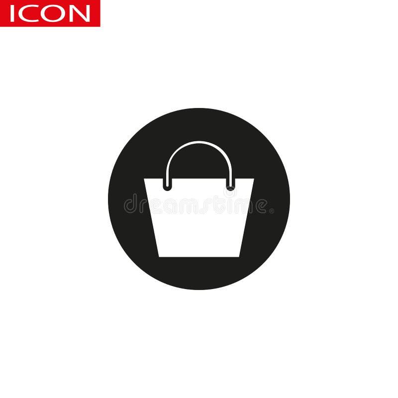 Increspi il vettore dell'icona della borsa, il segno piano riempito, pittogramma solido isolato su bianco Simbolo, illustrazione  royalty illustrazione gratis
