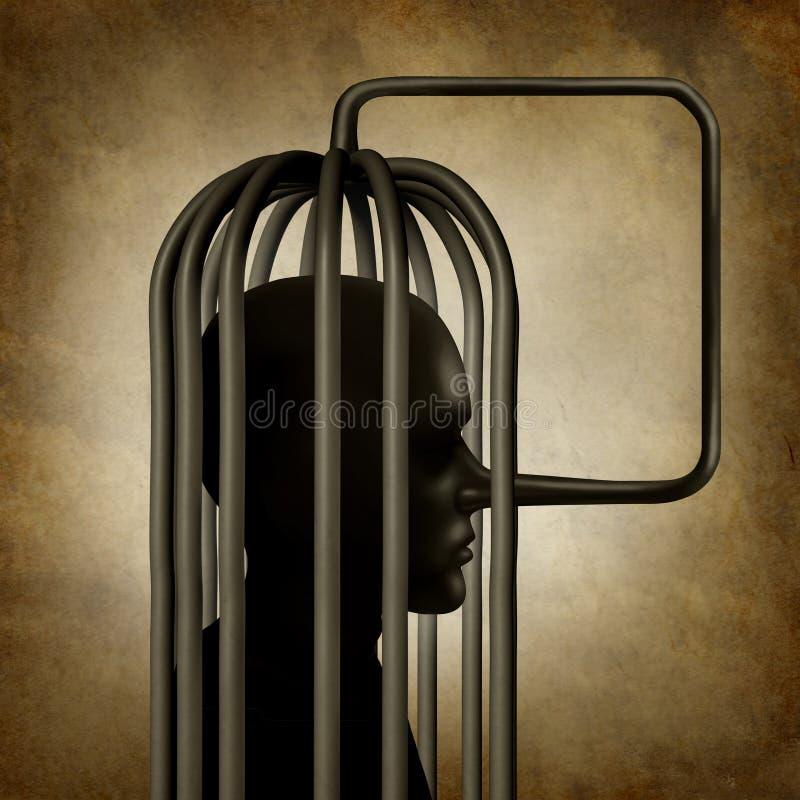 Incrimination illustration libre de droits