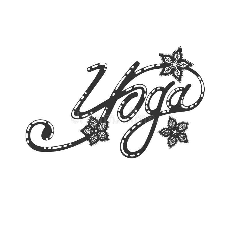 Incription di yoga, modello royalty illustrazione gratis
