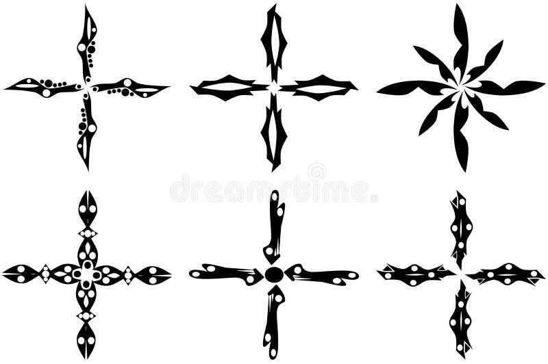 Incroci illustrazione vettoriale