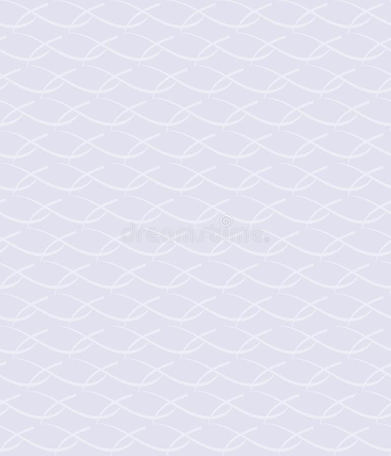 Incroci decorativi astratti Vector il reticolo senza giunte fondo ripetitivo bianco semplice pittura del tessuto Campione del tes royalty illustrazione gratis