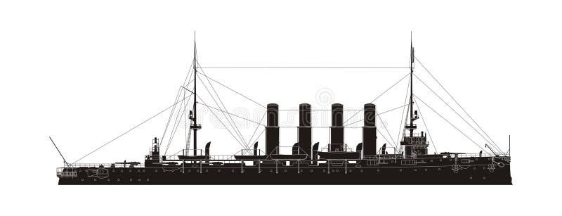 Incrociatore russo Varyag della marina royalty illustrazione gratis